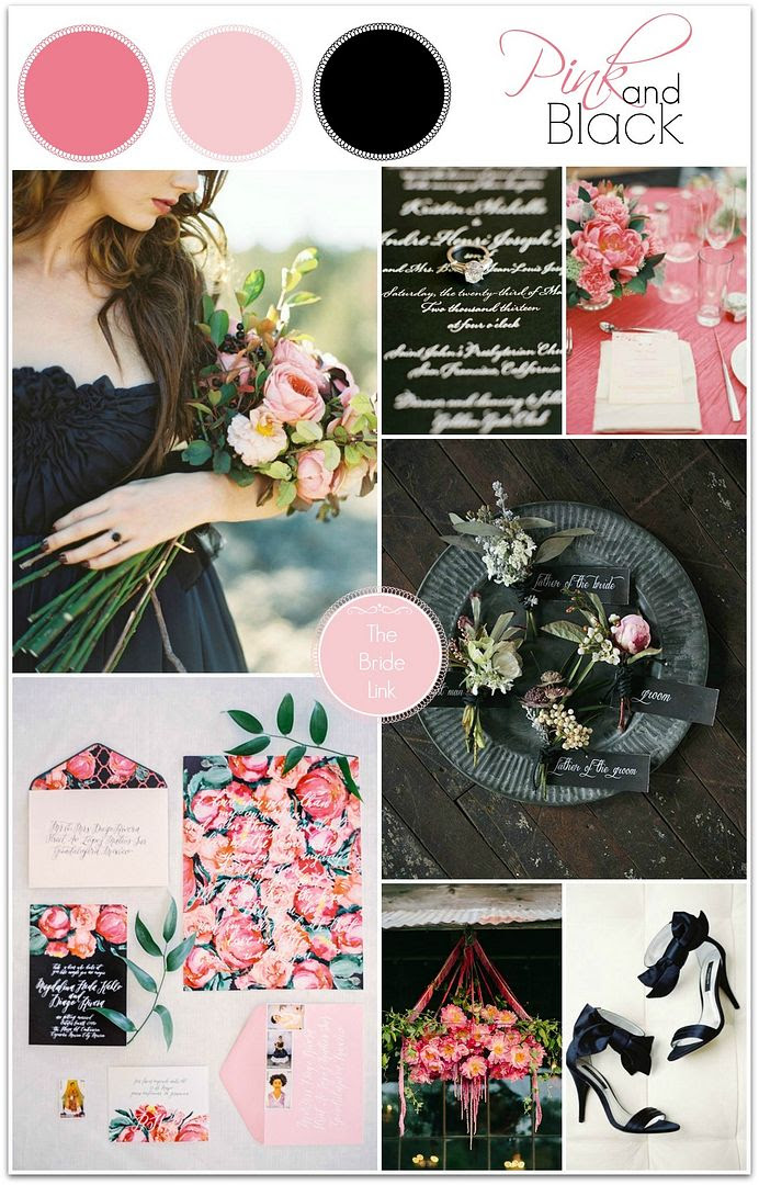 Pink And Black Wedding Ideas With The Bride Link The Perfect Palette