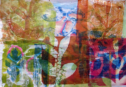monoprints on paper