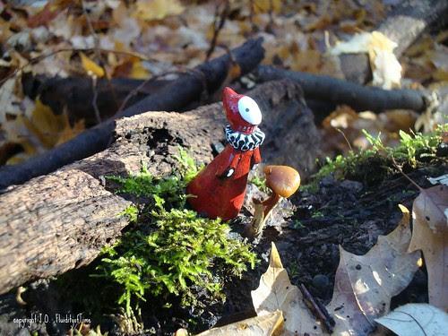 Poppet with Moss & Mushroom