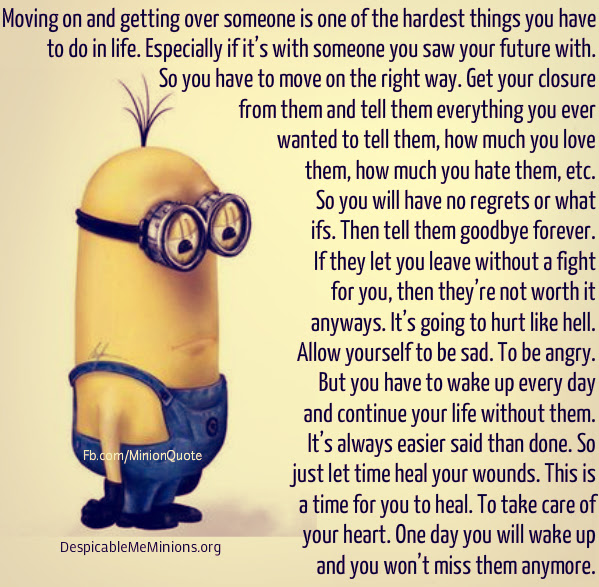 Joke For Monday 07 March 2016 From Site Minion Quotes Moving On
