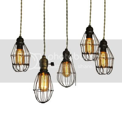 Early 2oth Century Industrial Cage Lights 1