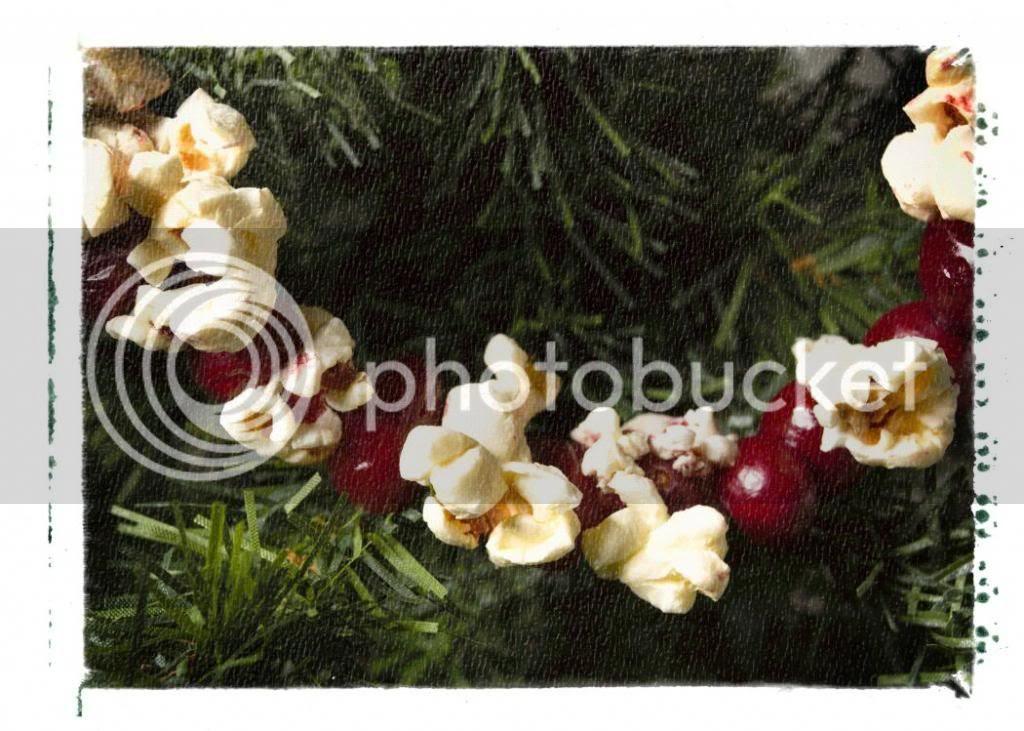 popcorn string, ghirlanda di pop corn, decorazione albero natale, xmas tree, cranberry