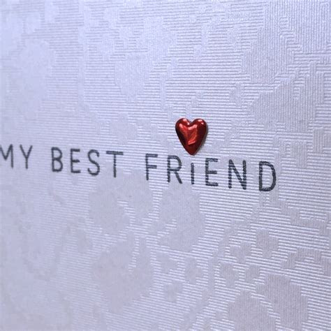 'today i marry my best friend' wedding card by apple of my