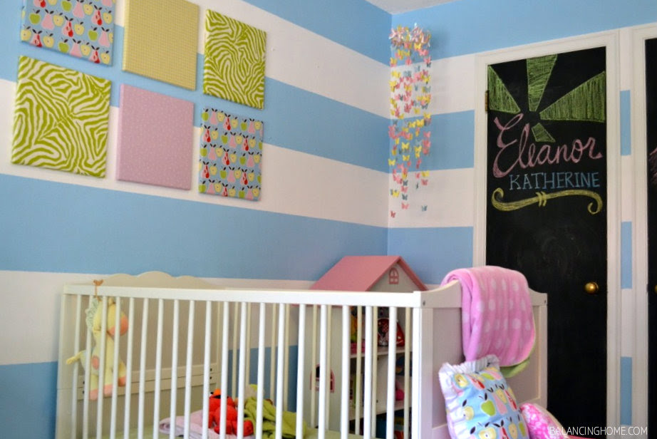 butterfly mobile pink blue nursery