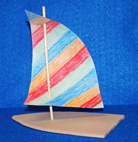 Whether making the sailboats with children or making them for place