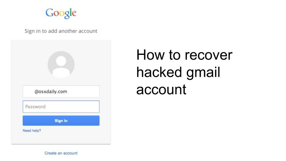 contact google over hacked account