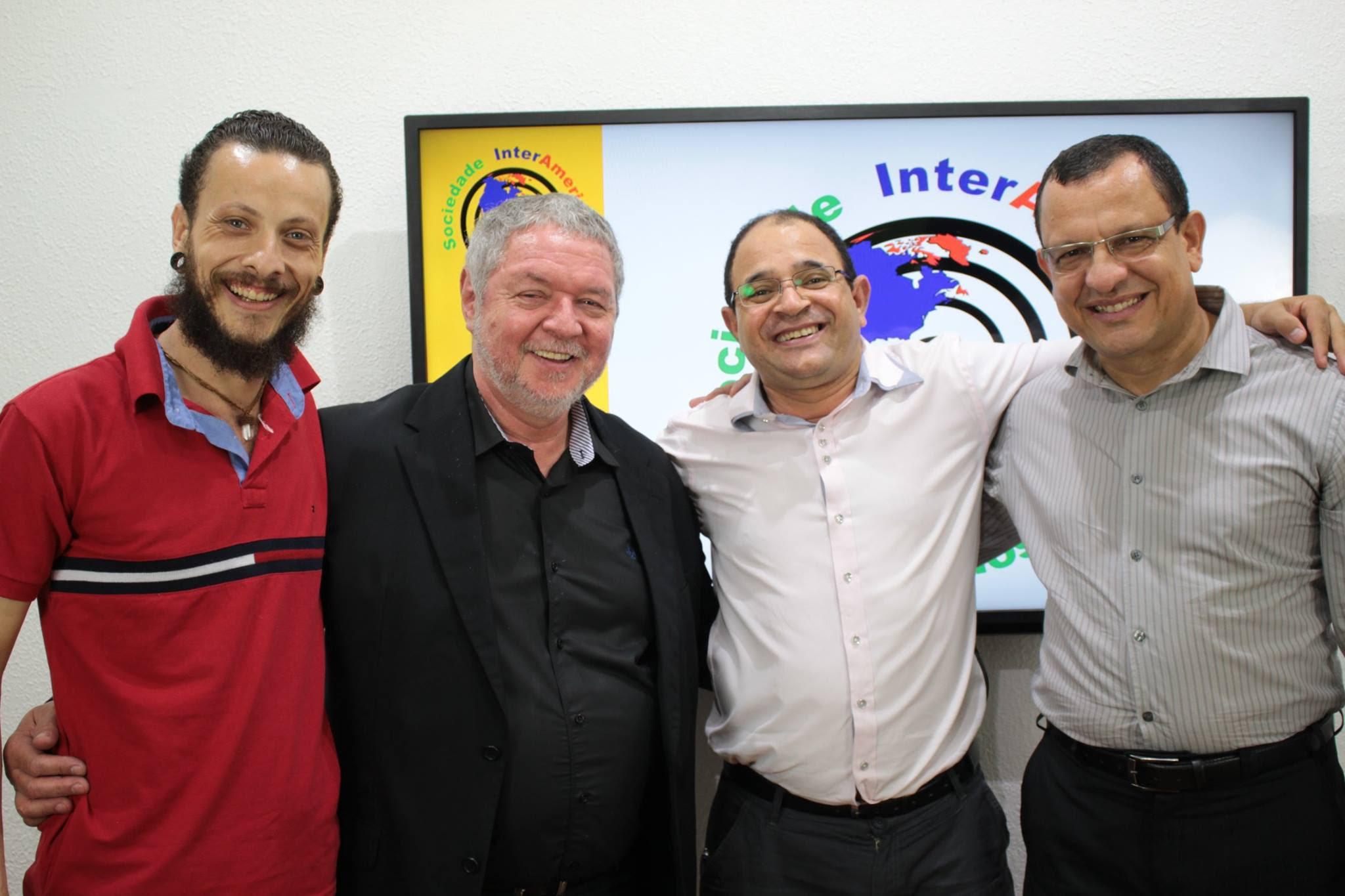 FOTO: Samej Spenser, Fábio Puentes, Valdecy Carneiro e Braz Cairo | Bate-Bola Hipnótico #1