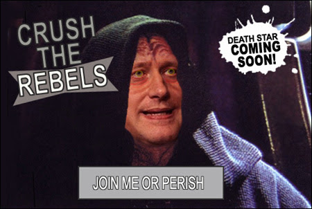 Stephen Harper as a Sith Lord: Death Star Coming Soon!