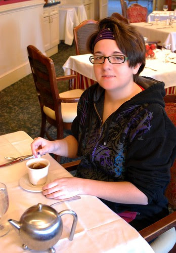 Jamie Enjoys Her Breakfast Tea