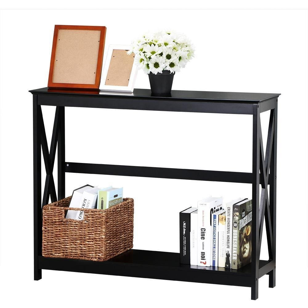 Narrow Console Table with Storage - Double Benefits | Cool ...