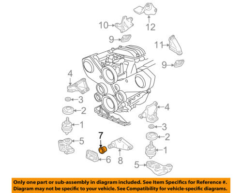 Auto Parts And Vehicles Car Truck Motor Mounts Vw Volkswagen Oem 98 05 Passat Engine Motor Transmission Stop 8d0199339p