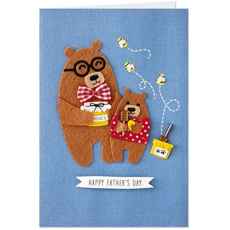 Papa Bear and Little Bear Sweetest Father's Day Card