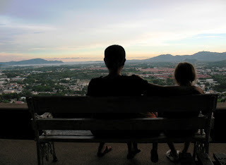 My family enjoying the view from Rang Hill