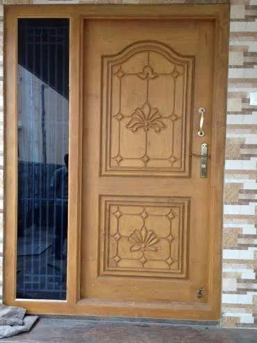 single door design in wood  | Single Steel Door