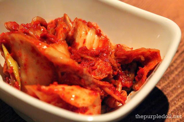Free Kimchi at Ba-Be-Q