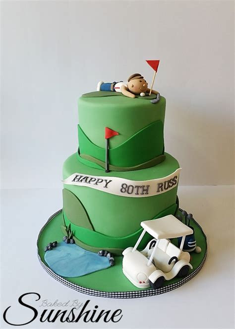 Surprise Golf Themed Cake For An 80Th Birthday