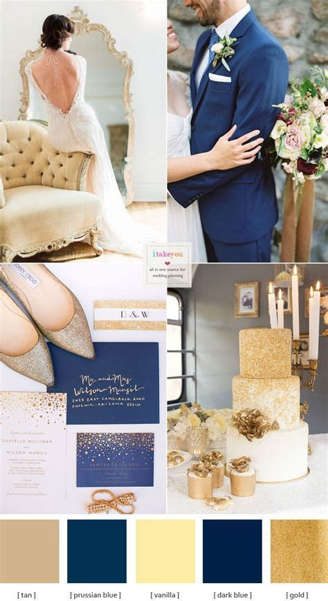 Opulent Blue and Gold Wedding Theme   Weddin{g}spirations