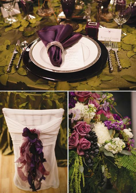 Twilight Inspired Wedding Tablescape // Hostess with the