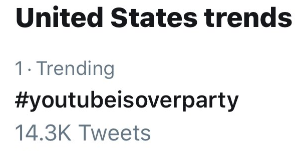 3Speak Twitter Awareness Campaign YouTubeIsOverParty