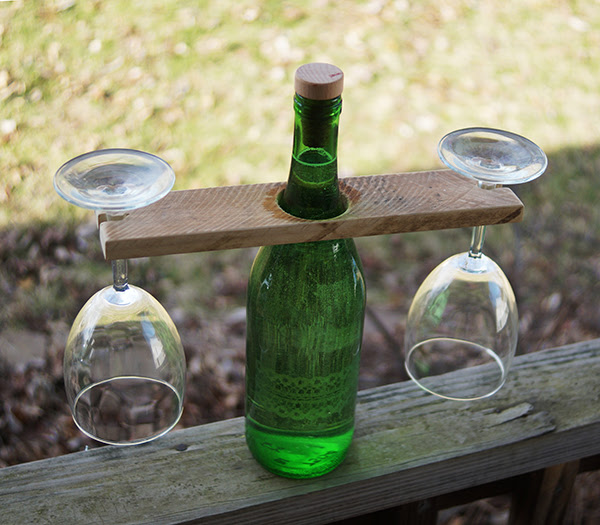 Wine Bottle Glass Holder Diy