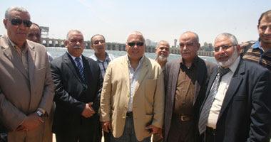 جانب من زيارة محمد عبد المطلب وزير الموارد المائية والرى