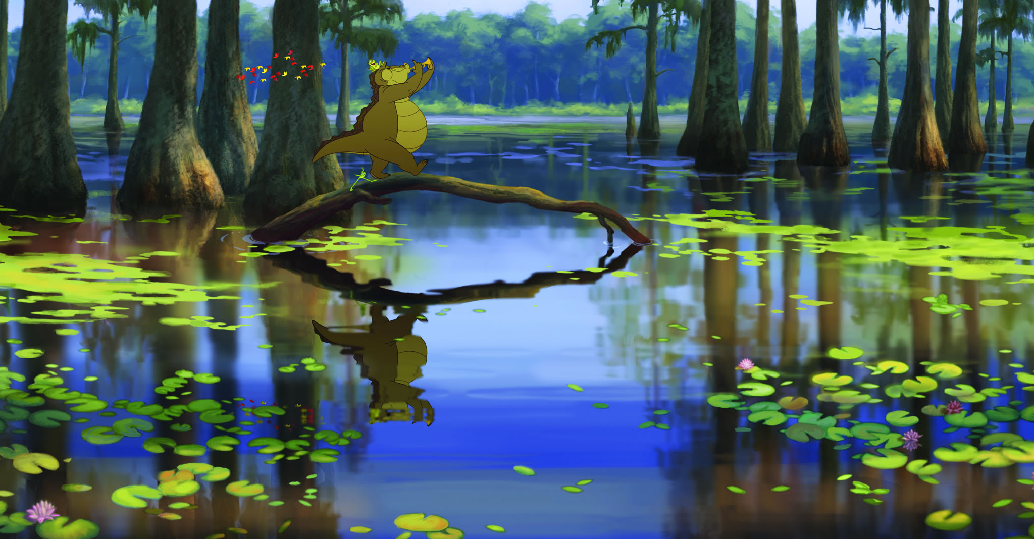 Louis The Gator In The Bayou From Princess And The Frog Desktop