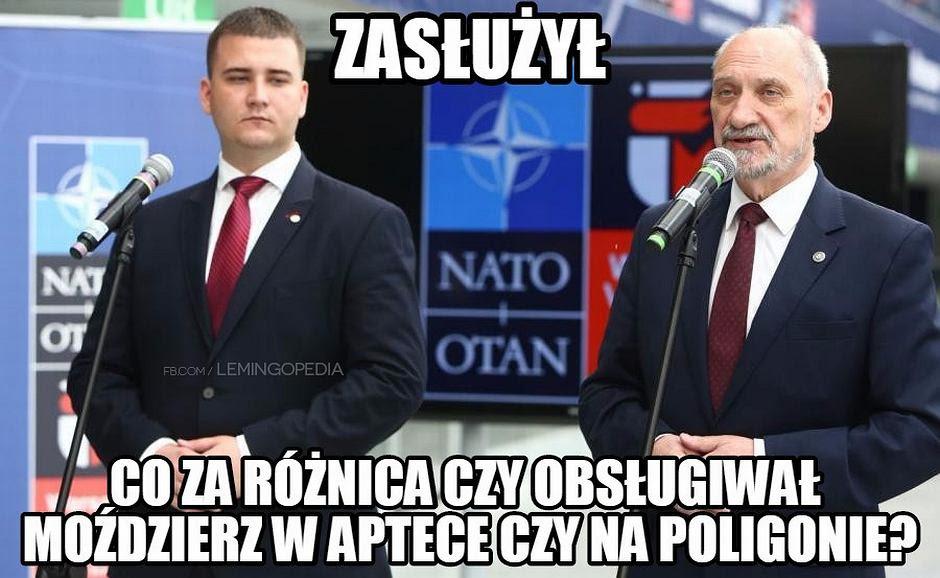 Znalezione obrazy dla zapytania Misiewicz,memy