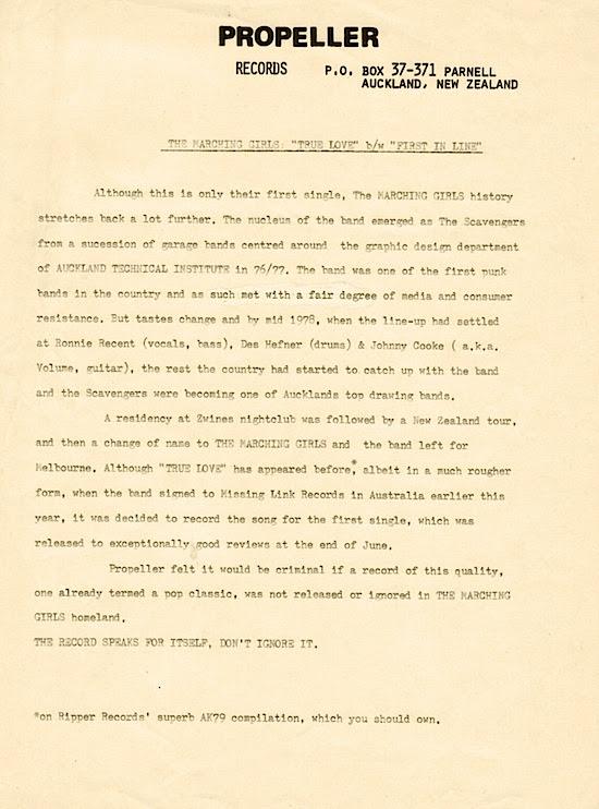 Propeller press release, 1980