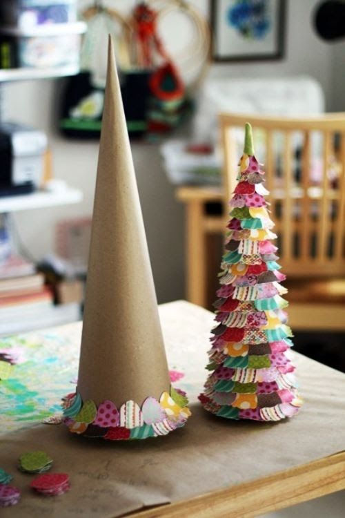 Paper Christmas Trees - Christmas Crafts