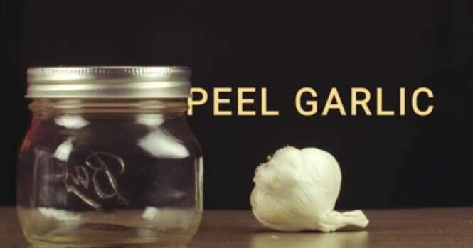 Vídeo exibe método simples para descascar alho