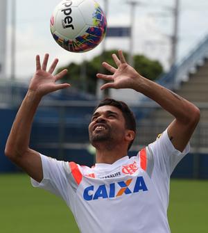 Eduardo da Silva, em treino do Flamengo (Foto: Gilvan de Souza / Flamengo)