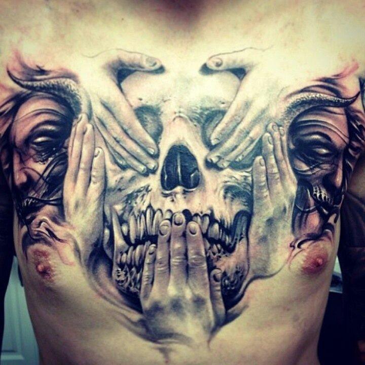 Tattoo Designs Gallery Chest Tattoos For Men Pretty Designs