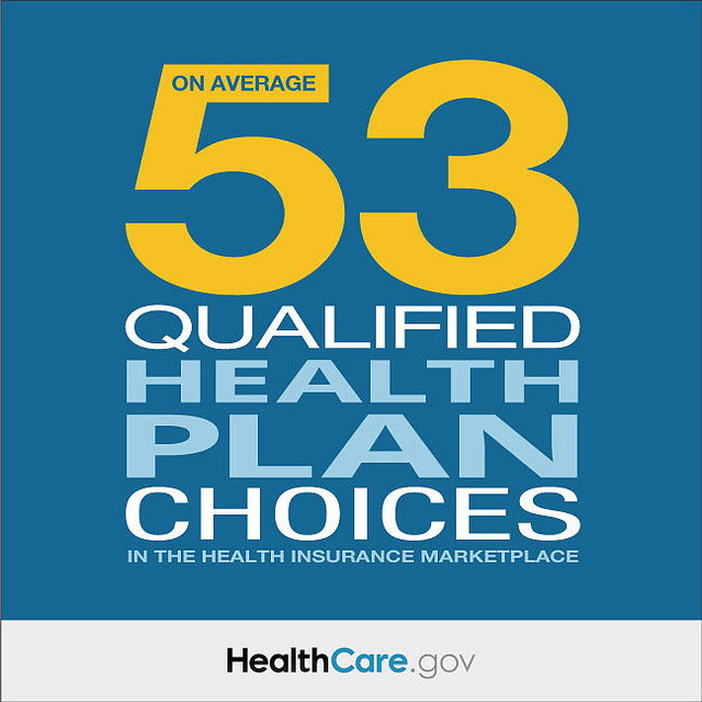 On Average: 53 Qualified Health Plan Choices in the Health Insurance Marketplace