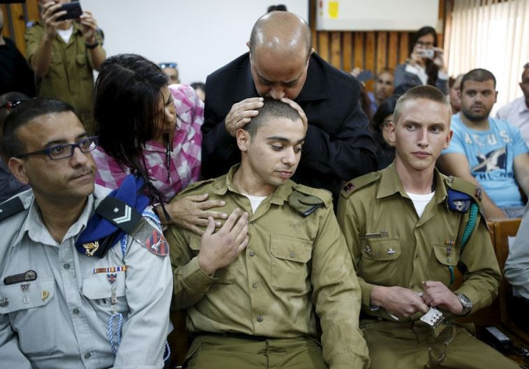 The father of Israeli soldier Elor Azaria, who is charged with manslaughter