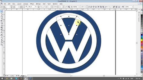 volkswagen logo design tutorials  corel draw youtube