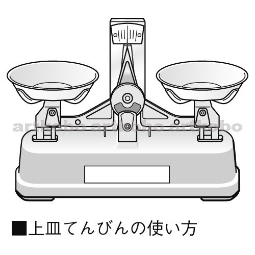 Web教材イラスト図版工房 上皿てんびん