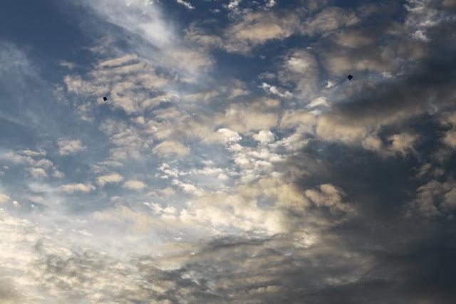 two kites, one sky