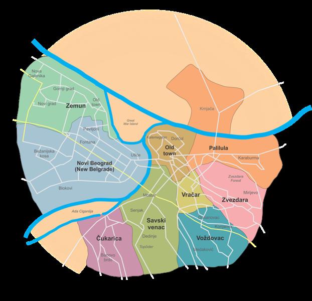 белград карта