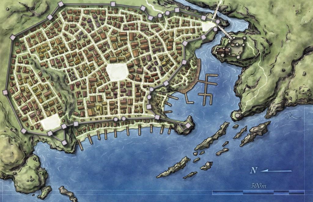 Free City And Archipelago Maps Fantastic Maps