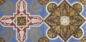 Cuban Heritage Cement Tile - Design CH110-1C