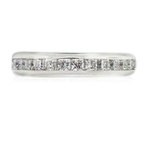 Tiffany & Co. Platinum Lucida Diamond Eternity Band Ring