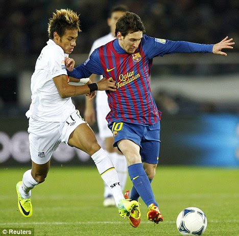 World's best: Chelsea are tracking Brazilian youngster Neymar