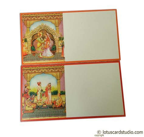Boxed Style Wedding Card with Rajasthani Royal Theme