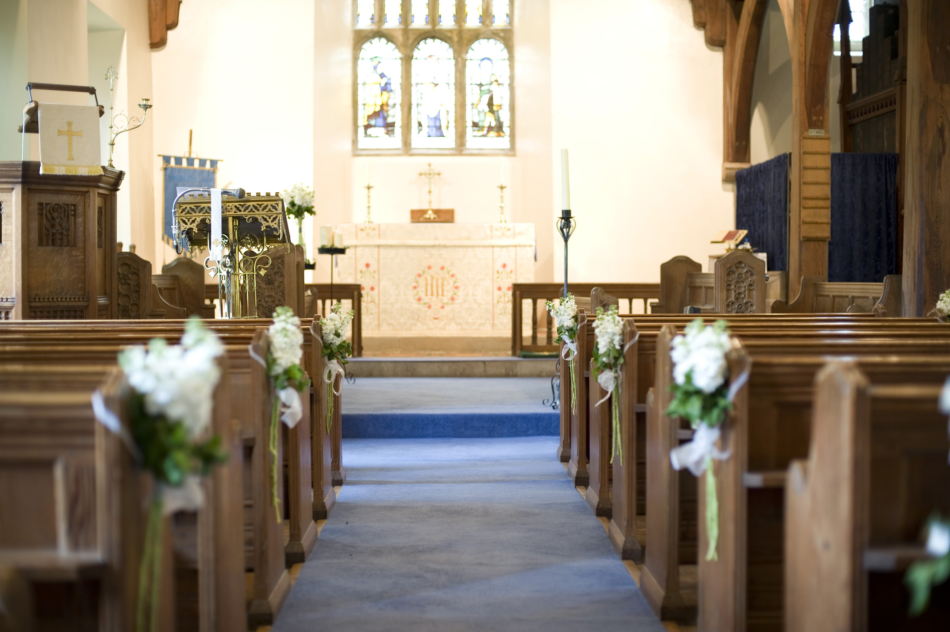 Wedding Decorations In Church
