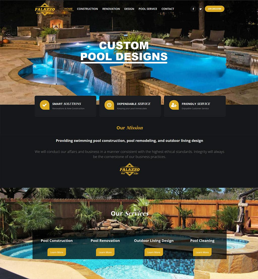 Palazzo Pool And Spa Cape Coral Web Design Quality Designers