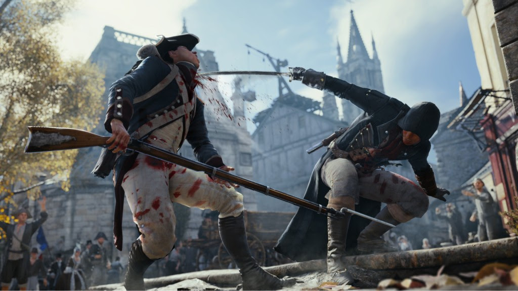 Screen Shot Of Assassin's Creed Unity (2014) Full PC Game Free Download At worldfree4u.com
