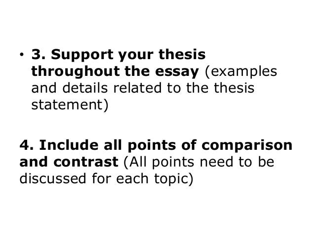 how to write a compare and contrast essay apa style