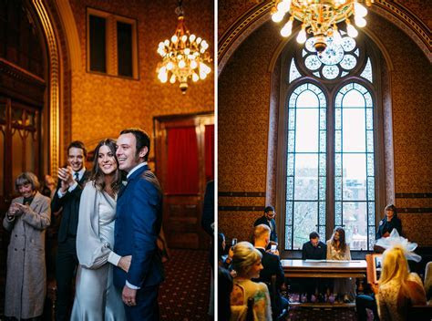 70s inspired Wedding Manchester Town Hall