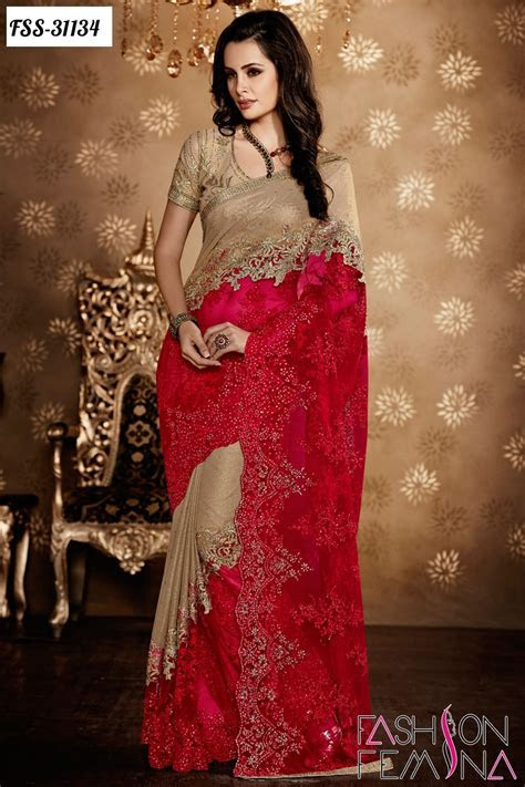 fashion femina: Latest Indian Wedding Designer Sarees 2016