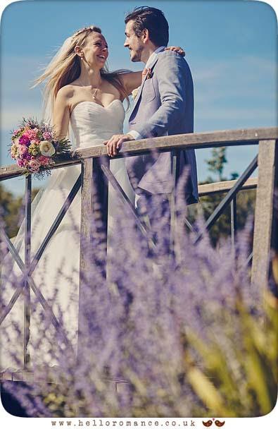 Romantic Photo of Bride and Groom at 2015 Suffolk wedding - www.helloromance.co.uk